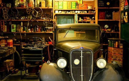 Old truck in the garage