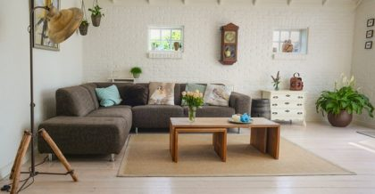 a nicely renovated living room