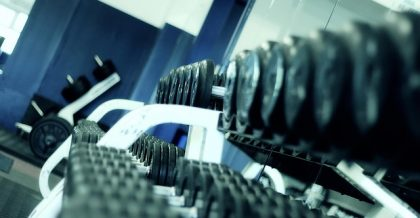 a row of dumbells you should have when you build a gym in your basement