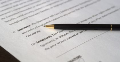 a finished contract you should sign