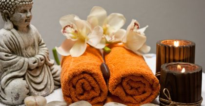 Spa towels for relaxing.